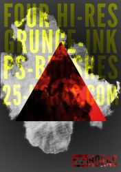 Grunge-Ink HiRes Brushes by 25Horas