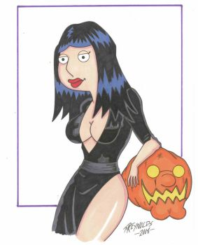 Lois Griffin as Elvira by PHARAOHSCURSE