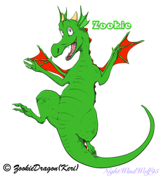 Zookie the Dragon by nightwindwolf95