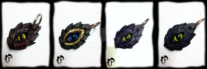 Dragon Key chains by Feral-Workshop