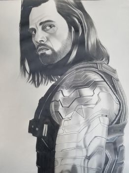 Winter Soldier finished drawing by corysmithart
