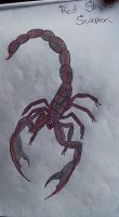 Red Striped Scorpion by ICreateWolf13