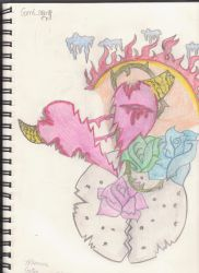 The broken moon's heart by Aprilsweets