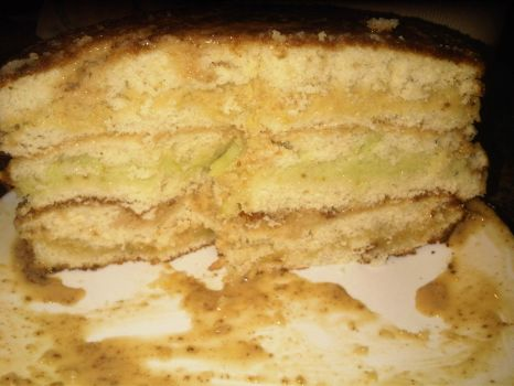 Triple-Citrus Caramel Cake (side) by Neurovore