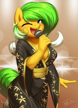 Commission - Gold Kimono by Burgerkiss