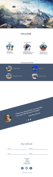 Web site template - skiing by alxmm1