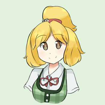 Animal Crossing - Isabelle Personification by chocomiru02