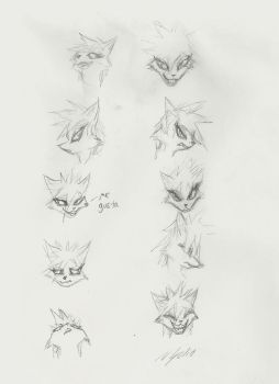 Facial expression sketches by SolidSpy24