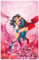 Superman and Wonder Woman - Valentine s Day! by GabeCurly