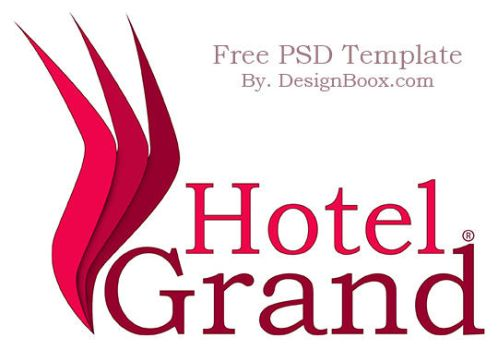Grand Hotel PSD Logo Template by MansyDesignTools