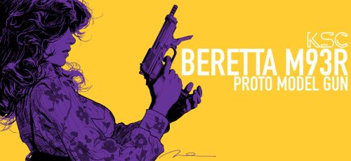 Beretta M93R BOX ART by AldgerRelpa