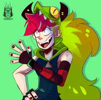 Demencia Doodle by DiamondwolfART