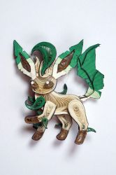 Pokemon Paper Quilling Art 470 Leafeon by wholedwarf