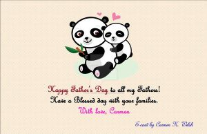 Fathers Day ecard by CopperSphinx