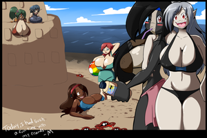 Day at the Beach by BlackSen