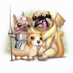 Medieval Dogs by BoKaier