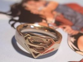 Gold-Plated Superman Ring by JeremyMallin