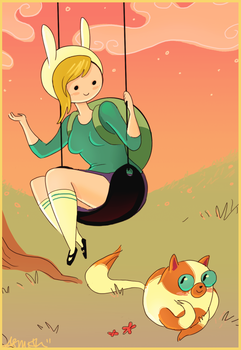 Fionna and Cake by Alyssizzle-Smithness