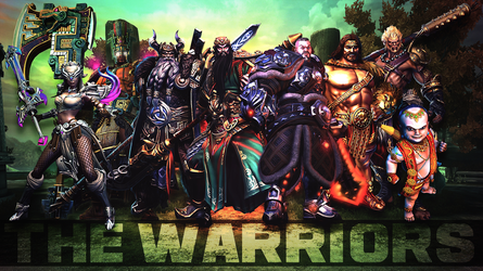 SMITE - The Warriors (Wallpaper HD) by Getsukeii