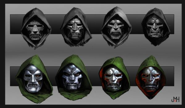 Dr. Doom Mask Concepts by SharpWriter