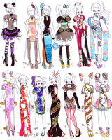 -CLOSED-Chinese dress designs by Guppie-Vibes