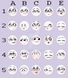 Emoticon Challenge by TrexieTrickster