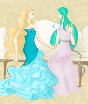 Ladies of Fashion by moonthrush