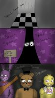 Freddy's nose squeaks  by Channydraws