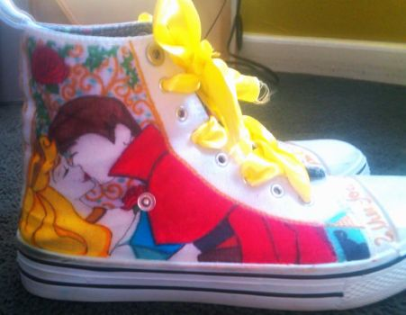 Custom Disney shoes! -right outside- by blackbirdbethie88