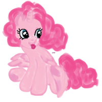 Pinkie Pie fanart MLP NOT MY CHARACTER by WhiteLedy