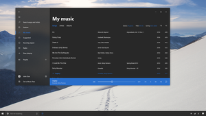 Groove Music - W10 Project Neon Concept by SamuDroid