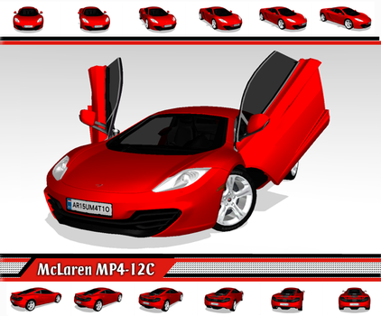 [MMD] Sports Car - McLaren MP4-12C + Motions (DL) by arisumatio