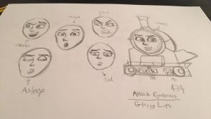 The Many Faces of Fiona the Caledonian Tank Engine by TheIndustrialGarratt