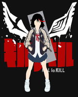 Matoi Ryuko minimalist style by AxeL-FaR