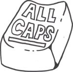 ALL CAPS t shirt design by Hardcore-Who-Fan