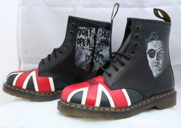 Walking Dead Dr Martens, Left side. by RTyson