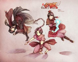 Action Pose Doodle_Ozai's Angel by kelly1412