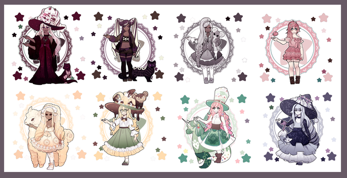 Dessert Witches(Set Price) Closed! by SimonAdventure