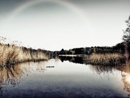 Rainbow @ Virginia Water by bullispace