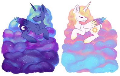 Lunar And Celestial Clouds by SpindleSpice