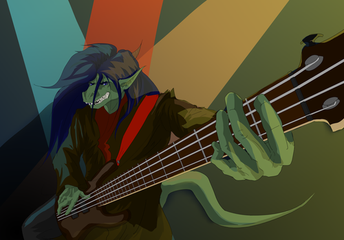 Bassist, ready! by Maltaid