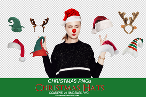XMAS HATS PNG by LittleDr3ams