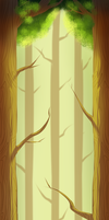 Forest Trees Custom Background by n33rrx
