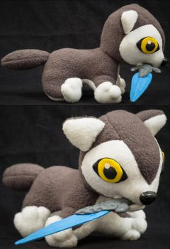 Sif, the Great Grey Wolf chibi plush by Blodwedden