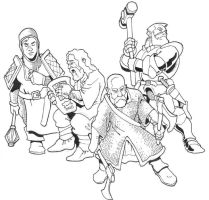 Dwarf player characters by Pachycrocuta