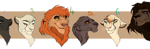 Lion Designs: CLOSED: by BeeStarART