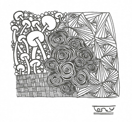 Traditional Zentangle NO.16 by smileyface001