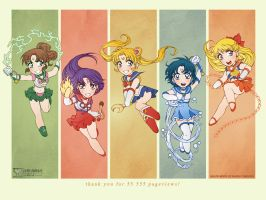 Sailor Moon: Wallpaper by daekazu