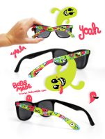 Crazy Monster Sunglasses by Bobsmade