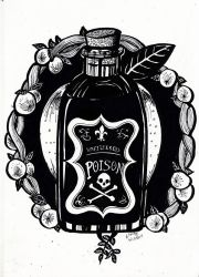 Inktober Day 3 - Poison by lizzy1e